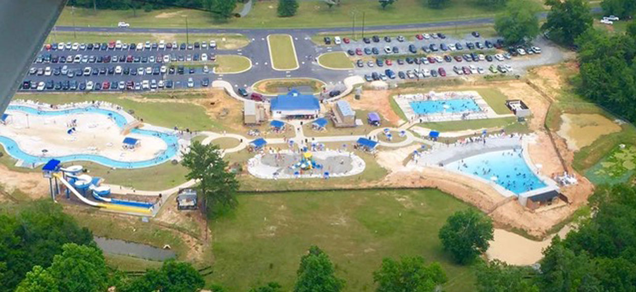 Sandy Beach Water Park aerial shot