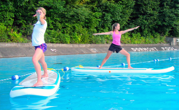 Pool Paddle Fitness at Dormont pool