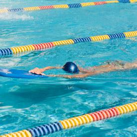 how to get in shape swimming laps