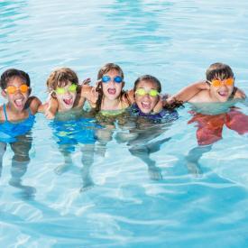 Splashtastic Summer Camp class at Park Forest Aqua Center