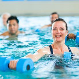 Water Aerobics class at Park Forest Aqua Center