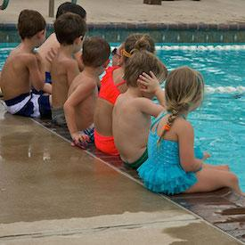 Children at pool