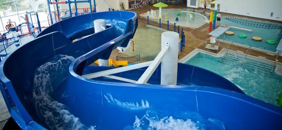 Vaughan Athletic Center water slide