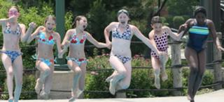 Girls having fun at Village of Grayslake pool