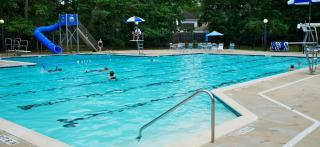 Swimmers in pool at Mills Branch Village