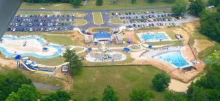 Sandy Beach Water Park aerial shot