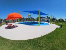 West Side view of Splash Pad