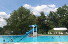 Water slide at Borough of Baldwin pool