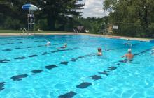 Lifeguard on duty at Borough of Baldwin pool