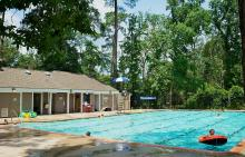 Children swimming at Bear Branch Village pool