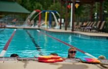 Swim instructor at Benders Landing Estates pool