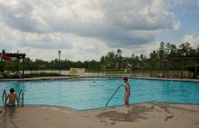 Swimming pool at Benders Landing Estates