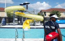 Lifeguard at Caporella Aquatic Center