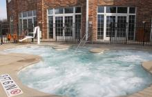 Cascades heated whirlpool