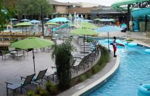 Hilton Anatole Lazy River Pool