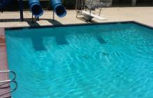 water slides at Hunters Ridge Pool