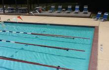 Lap lanes at Hunters Ridge pool