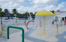 Childrens pool area at Jerry Resnick Aquatic Center