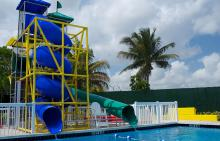 Jerry Resnick Aquatic Center water slide