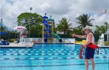 Lifeguard at Jerry Resnick Aquatic Center