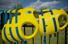 Childrens lifejackets at Lakewood Creek pool