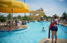 lifeguard at Liberty Grove pool