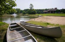 Canoes at Oak Brook Swim and Tennis Club