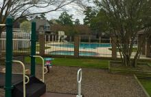 Pinehurst swimming pool and playground area