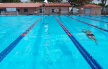 Swimmer at Patrick J. Meli Park