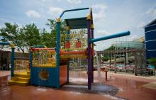 Childrens aquatic playground at Splash Country Water Park