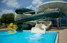Water slide at Splash Country Water Park